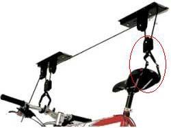 Sistemas para colgar bicicletas techo – Mesa para la cama